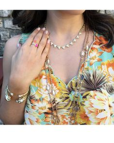 Leighton Long Necklace in Brown Mother-of-Pearl - Kendra Scott Jewelry. Coming April Kendra Scott Jewelry, Stackable Rings, Women's Accessories, Winter Fashion, Jewelry Design, Pearls, Chain, My Style, Brown