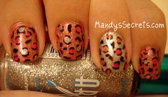sharpie nail designs | MandysSecrets: NAIL ART -- Holographic Leopard Print Nails!