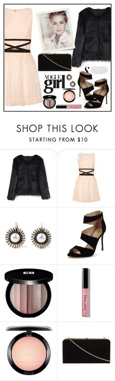 """Band of Outsiders Pleated cotton and silk-blend mini dress"" by biange ❤ liked on Polyvore featuring Chicwish, Band of Outsiders, Carvela, Edward Bess, Bobbi Brown Cosmetics, MAC Cosmetics and Dorothy Perkins"