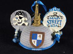 Magic Kingdom Lands Tomorrowland Main Street Ears Hat Holiday Ornament