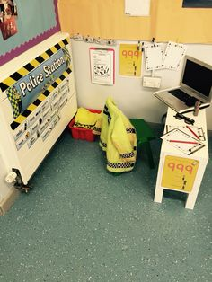 EYFS Police Station role play area...