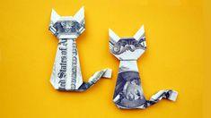 Easy Money Origami Animals - Easy Money Cat Origami Dollar Gift Idea Animal Tutorial Diy Money Unicorn Origami Animal 1 Dollar Tutorial Diy Folded No Glue Money Origami Animals Do. Easy Money Origami, Money Origami Tutorial, Origami Diy, Origami Simple, Useful Origami, Paper Crafts Origami, Origami Boxes, Origami Ball, Oragami Money