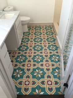 we canu0027t wait to get finished pictures of this cement tile bathroom floor