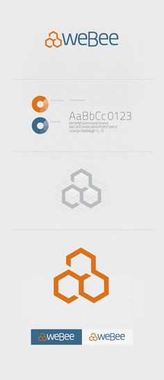 WeBee CI and UI design by Chrome Lab , via Behance