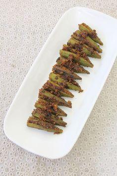 Bharli Bhendi Recipe   Maharashtrian style stuffed bhindi recipe