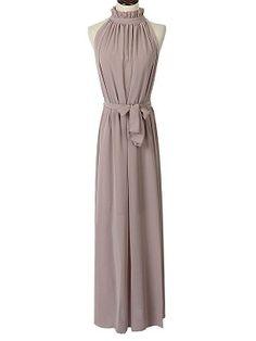 Shop Khaki Maxi Evening Dress In Chiffon from choies.com .Free shipping Worldwide.$23.9