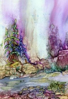 Spirits of Time (alcohol ink)