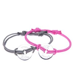 Duo Washer Bracelets with your own words Silver by MerciMamanGifts, £70.00