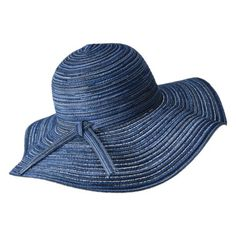 Merona® Slub Packable Floppy Hat - Blue