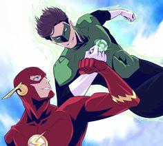 Doodles : 画像 Hal Jordan Barry Allen