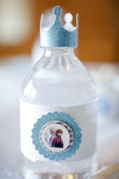 que tierna botellita, para las gaseosas un detalle Frozen