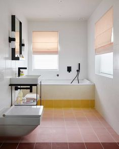 The Unexpected 2020 Tile Trend That A Very Unlikely EHDer Is Putting In Her House...Plus An Ask The Audience - Emily Henderson #hometrends #interiors #tile #kitchentile #bathroomtile Guest Bathrooms, Bathroom Kids, Bathroom Design Small, Diy Bathroom Decor, Budget Bathroom, Bathroom Renovations, Organized Bathroom, Small Bathrooms, Simple Bathroom