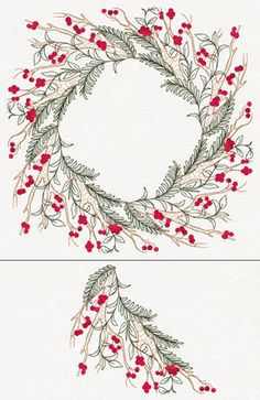 Machine Embroidery Designs Turn this delicate branch 90 degrees and stitch four times in a circle to create a beautiful wreath! Size listed for single piece, total length and width is about Stitch count listed is for all four pieces together. Embroidery Hearts, Christmas Embroidery, Hand Embroidery Patterns, Floral Embroidery, Beaded Embroidery, Embroidery Stitches, Best Embroidery Machine, Machine Embroidery Projects, Urban Threads