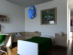 Camera figlio affacciata sulla loggia a sud - Massimo Rinaldo architetto