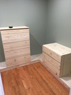 DIY Custom Closet - IKEA TARVA & IVAR HACK - Handmade Weekly Diy Custom Closet, Custom Closet Design, Bedroom Closet Design, Closet Designs, Walk In Closet Ikea, Closet Built Ins, Build A Closet, Master Closet, Open Closets