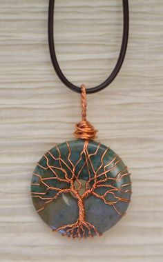 Tree of Life copper wire wrapped natural by RecycledBeautifully, $32.00