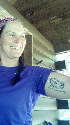 Cool tattoo for the Appalachian Trail.
