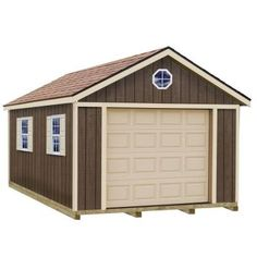 Best Barns Sierra 12 ft. x 16 ft. Wood Garage Kit with Sturdy Built Floor-sierra_1216f - The Home Depot