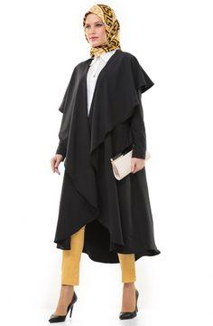 Saadet.Le.Moda Hırka-Siyah 3206-01