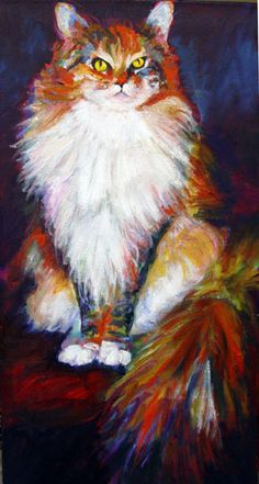 Coon Cat by Peggy Atkinson