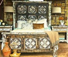 With fine design in mind we've created an enchanting piece that's a natural fit for your dining room. Meticulously hand carved and distressed by hand, it features delicate carvings and southwestern fl