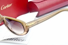 Cartier Brown Rimmed Women's Sunglasses