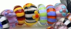Happy Big Holed Beads (to fit Pandora and similar bracelets or necklaces) made by Lezlie Belanger