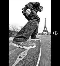 Longboard in Paris