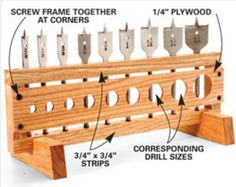 Home Built Drill Bit Organizer