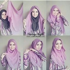 These hijab tutorials are owned by hijab… Tutorial Hijab Segitiga, Square Hijab Tutorial, Simple Hijab Tutorial, Pashmina Hijab Tutorial, Stylish Hijab, Hijab Chic, Hijab Outfit, Hijab Mode Inspiration, How To Wear Hijab