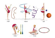 Rhythmic gymnastics is practiced using five accessories (apparatuses), which for the most part are made of synthetic material.   visual.merriam-webster.com