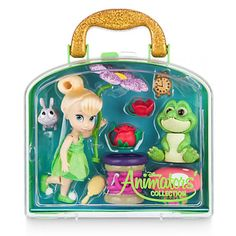 Let's Party – Tinkerbell – Building Our Happily Ever After Disney Animators' Collection Tinker Bell Mini Doll Play Set Disney Princess Dolls, Princess Toys, Disney Dolls, Tinkerbell Fairies, Disney Fairies, Tinkerbell Party, Tinker Bell, Toys For Girls, Kids Toys