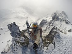 GoPro kayaker Ben Brown enjoys water of the frozen kind, too. Ben Brown, Gopro Action, Welcome Winter, Powerful Pictures, Camera Shop, Extreme Sports, Winter Sports, Winter Snow, Snowboarding