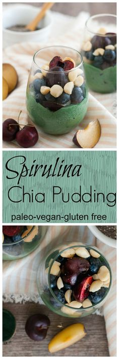 Spirulina Chia Pudding made in 5 minutes #vegan #paleo #glutenfree