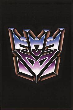 Transformers Decepticons Logo Cartoon Poster 24x36 – BananaRoad