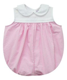 Love this Pink Gingham Collar Bubble Bodysuit- Infant on #zulily! #zulilyfinds