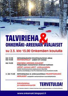 Talvirieha & Onkemäki-Areenan avajaiset 2.3.14