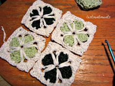 Cathedral Crochet Motif