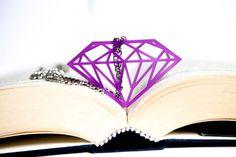 Collana Diamante in Plexiglass viola trasparente di PasBijoux, €7.99
