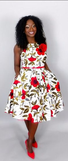 Vintage style dresses like this will make you look sweet and classy. Floral African print dress,African clothing,African print,women dresses,African,ankara dress,Ankara clothing ,handmade.   Kitenge | Dashiki | African print dress | African fashion | African women dresses | African prints | Nigerian style | Ghanaian fashion | Senegal fashion | Kenya fashion | Nigerian fashion | cute summer dress (affiliate)