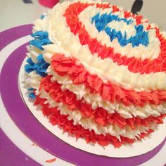 My flag cake turned into captain America