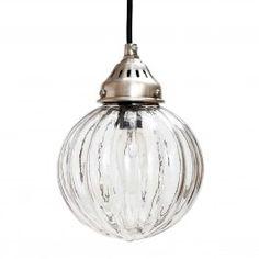 Hübsch plafondlamp glas/rond met banen