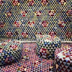 A trillion colorful triangles by interior design studio Bertjan Pot at Milan Design Week