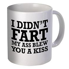 hahaha, gift for those who fart often, hahah :) #goodmorning #gift #him #boyfriend #afflink #kiss #mug