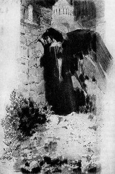 Михаил Александрович Врубель. Демон у ворот монастыря