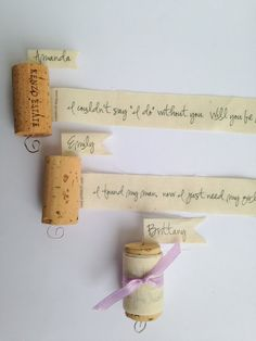 Set of 4 Wine Cork Bridesmaid Proposal Will you be my by Petite25