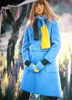 Jane Birkin in Blue Coat by Pennelainer, via Flickr
