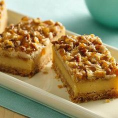 Crème Brûlée Cheesecake Bars recipe from Betty Crocker