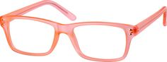 Order online, unisex pink full rim acetate/plastic rectangle eyeglass frames model #124519. Visit Zenni Optical today to browse our collection of glasses and sunglasses.