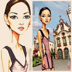 Portraits of fashion models: Chanel